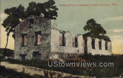 Ruins Of Fort Crawford - Prairie Du Chien, Wisconsin WI Postcard