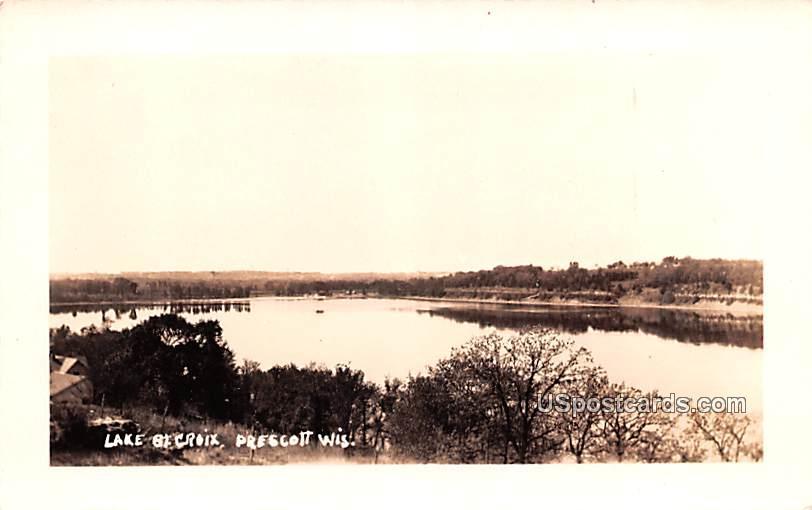Lake Saint Croix - Prescott, Wisconsin WI Postcard