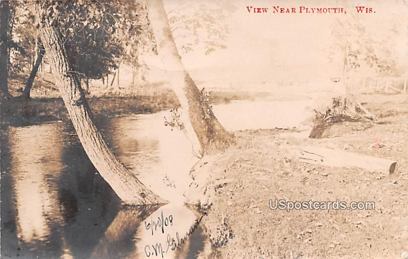 Water View - Plymouth, Wisconsin WI Postcard