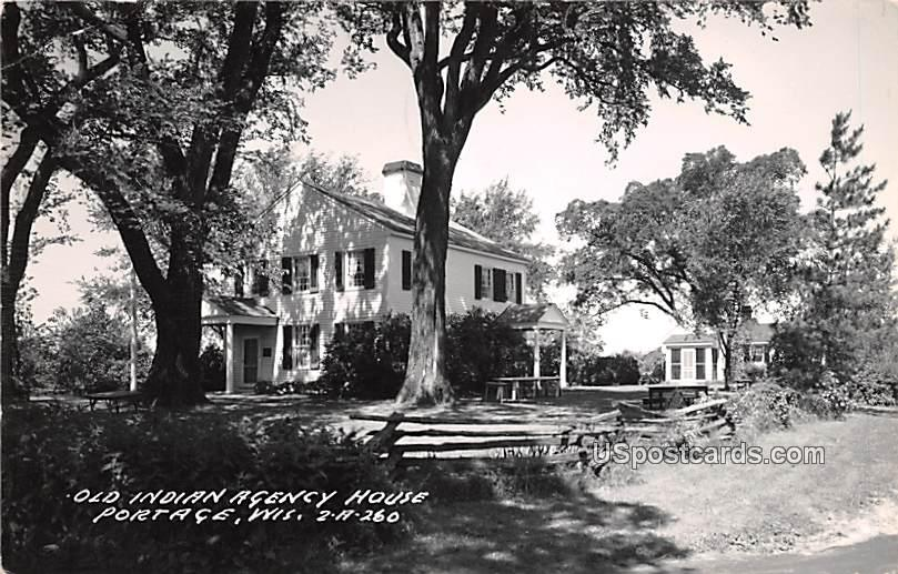 Old Indian Agency House - Portage, Wisconsin WI Postcard