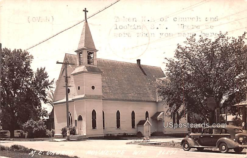 ME Church - Poynette, Wisconsin WI Postcard