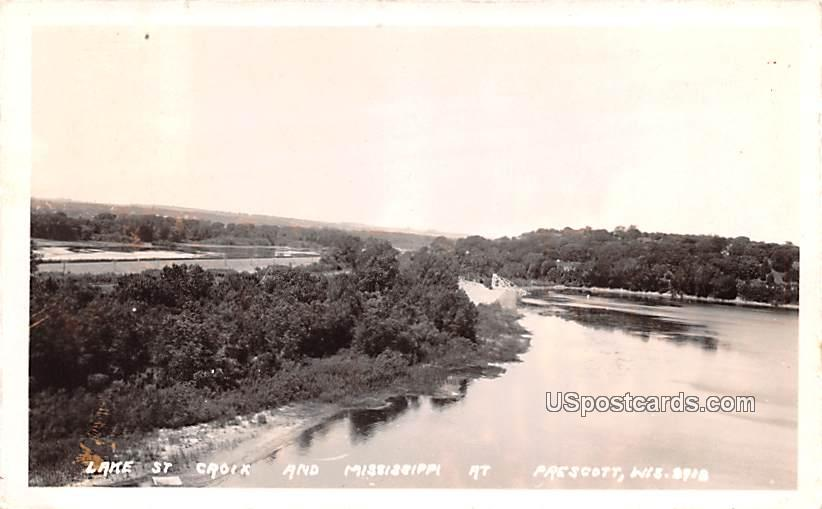 Lake St Croix - Prescott, Wisconsin WI Postcard