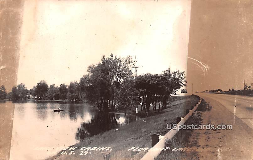 Lake View Cabins - Pleasant Lake, Wisconsin WI Postcard