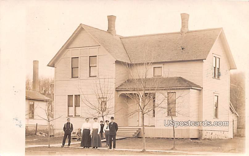 People in front of Residence - Plymouth, Wisconsin WI Postcard