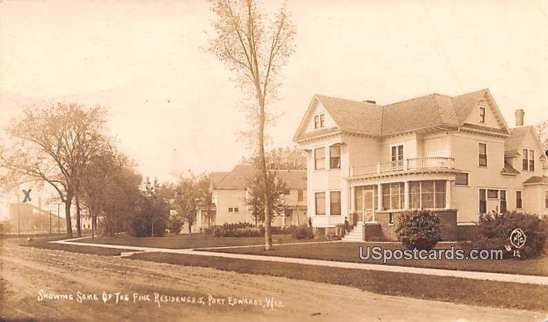 Showing Some of the Fine Residences - Port Edwards, Wisconsin WI Postcard