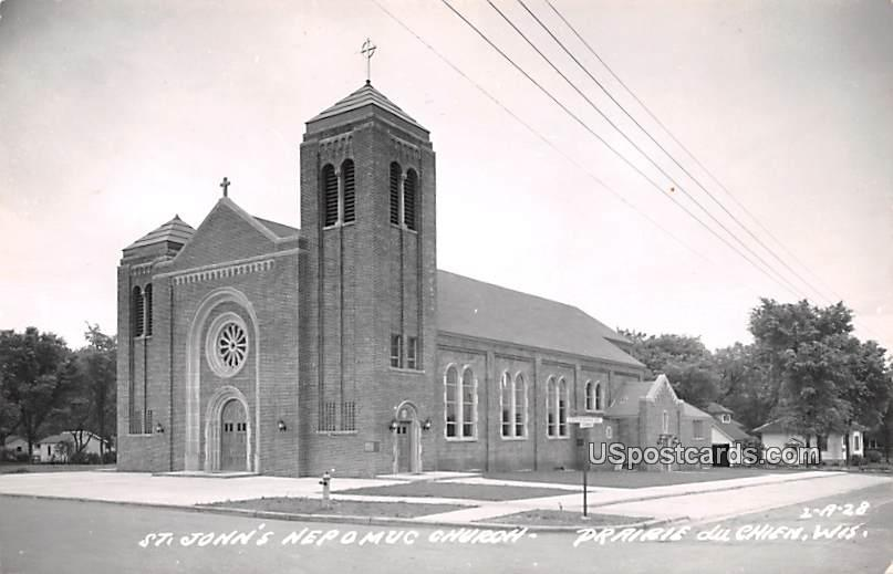 St John's Nepomuc Church - Prairie Du Chien, Wisconsin WI Postcard