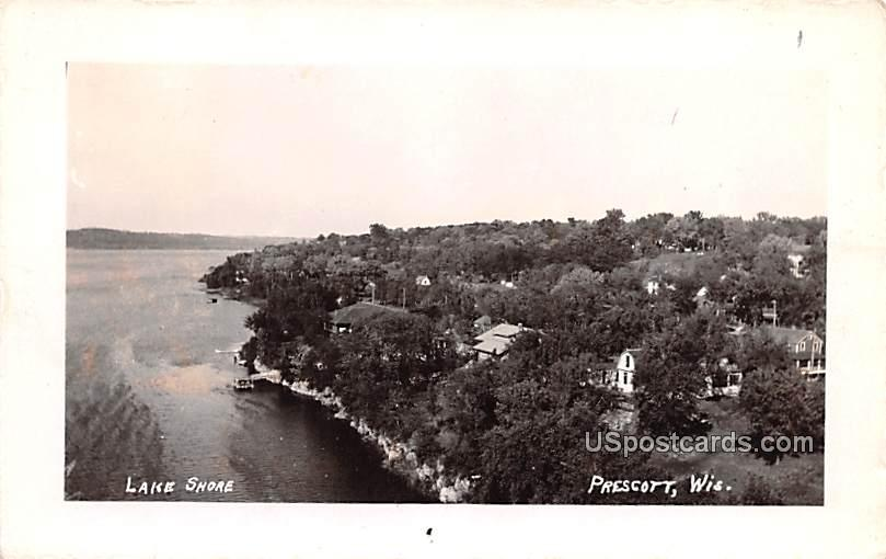 Lake Shore - Prescott, Wisconsin WI Postcard