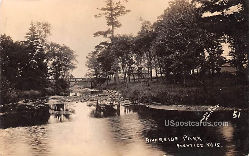 Riverside Park - Premtice, Wisconsin WI Postcard