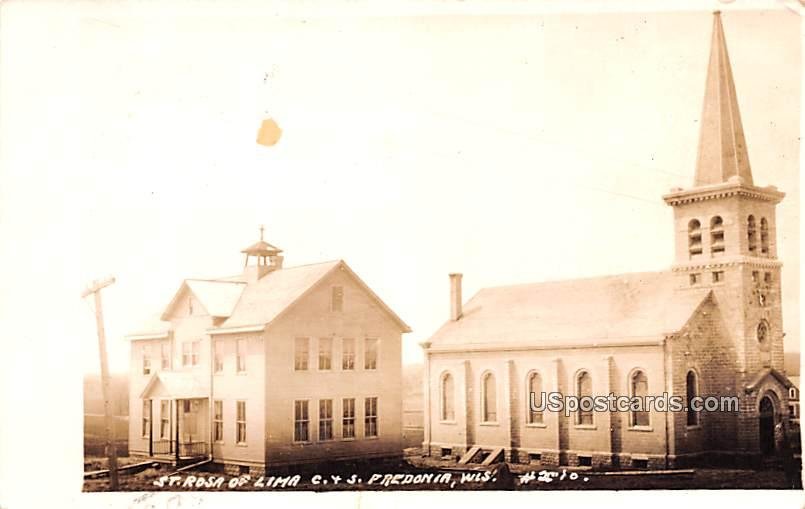 St Rosa of Lima C & S - Predonia, Wisconsin WI Postcard