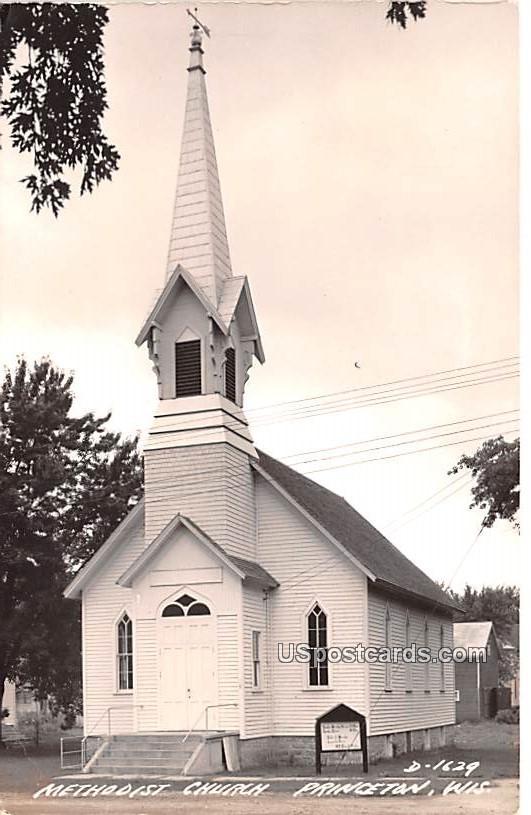 Methodist Church - Princeton, Wisconsin WI Postcard