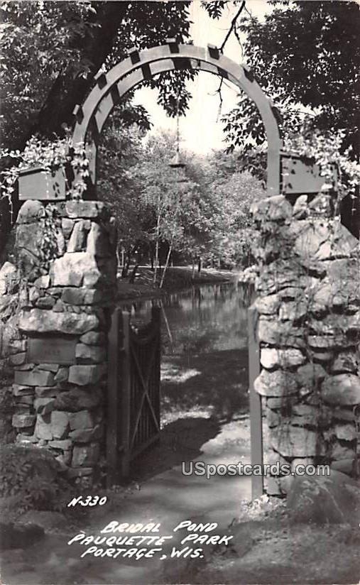 Bridal Pond - Portage, Wisconsin WI Postcard