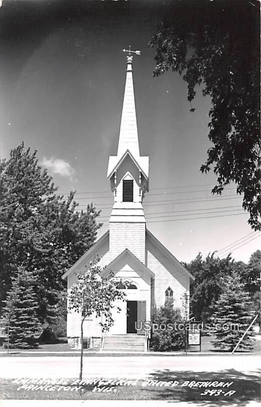 Emmanuel Evangelical United Brethren - Princeton, Wisconsin WI Postcard