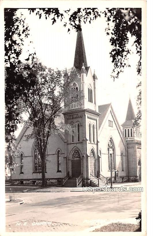 ME Church - Portage, Wisconsin WI Postcard