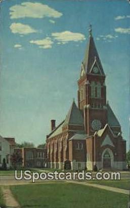 Immanuel Lutheran Church - Waupun, Wisconsin WI Postcard