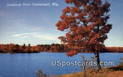 Greetings  - Cumberland, Wisconsin WI Postcard