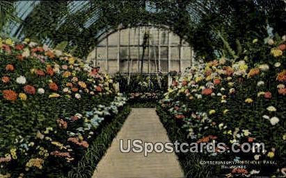 Mitchell Park - MIlwaukee, Wisconsin WI Postcard