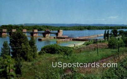 U. S. Government Dam - Misc, Wisconsin WI Postcard