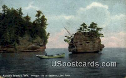 Lone Rock - Apostle Islands, Wisconsin WI Postcard