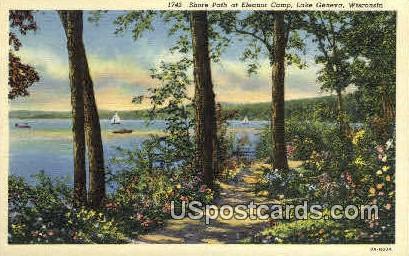 Eleanor Camp - Lake Geneva, Wisconsin WI Postcard