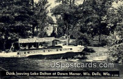 Lake Delton - Wisconsin Dells Postcards, Wisconsin WI Postcard