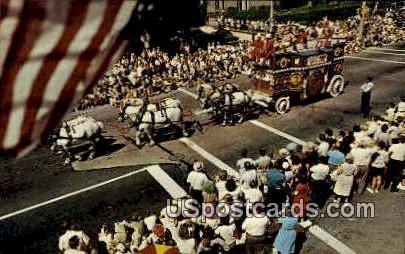 Circus Parade - MIlwaukee, Wisconsin WI Postcard