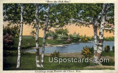 Greetings - Prairie Du Chien, Wisconsin WI Postcard