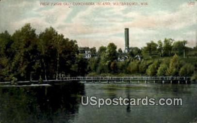 Concordia Island - Watertown, Wisconsin WI Postcard