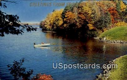 Greetings - Spooner, Wisconsin WI Postcard