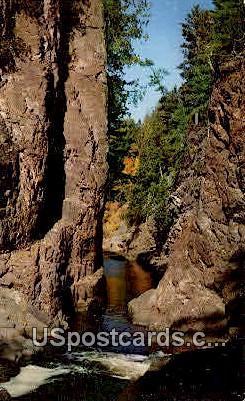 Copper Falls State Park - Mellen, Wisconsin WI Postcard