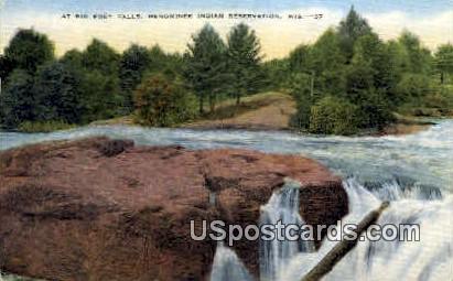 Big Eddy Falls - Menominee Indian Reservation, Wisconsin WI Postcard