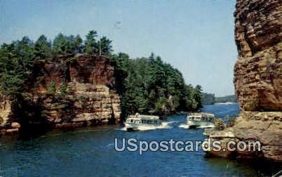 Wisconsin River - Wisconsin Dells Postcards Postcard