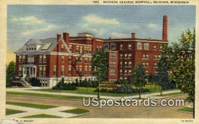 Madison General Hospital - Wisconsin WI Postcard