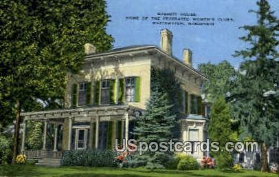 Bassett House - Whitewater, Wisconsin WI Postcard
