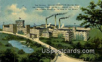 Horlick's Malted Milk - Racine, Wisconsin WI Postcard