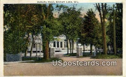 Osthoffs Hotel - Elkhart Lake, Wisconsin WI Postcard