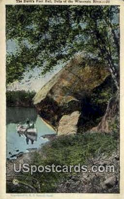 Devil's Foot Ball - Wisconsin Dells Postcards, Wisconsin WI Postcard