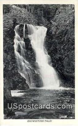Brownstone Falls - Copper Falls State Park, Wisconsin WI Postcard