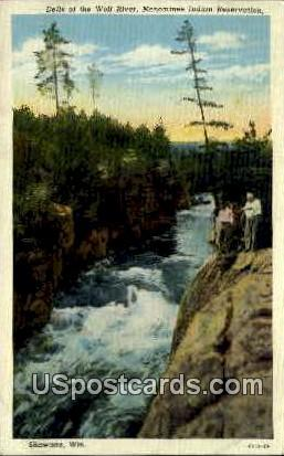 Wolf River - Menominee Indian Reservation, Wisconsin WI Postcard