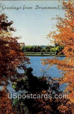 Greetings - Drummond, Wisconsin WI Postcard
