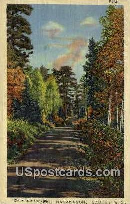 Lake Namakagon - Cable, Wisconsin WI Postcard