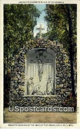 Way of the Cross - Holy Hill, Wisconsin WI Postcard