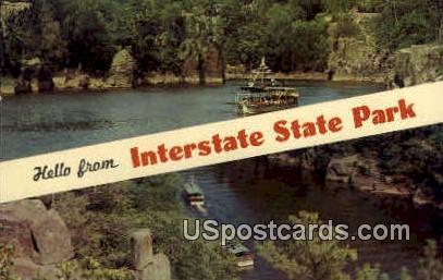 Hello - Interstate State Park, Wisconsin WI Postcard