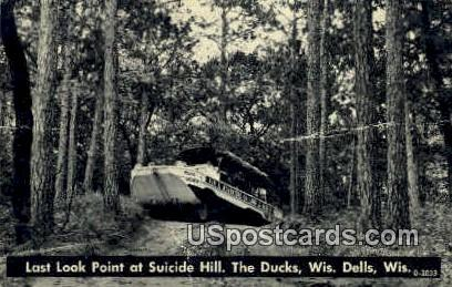 Suicide Hill - Wisconsin Dells Postcards, Wisconsin WI Postcard