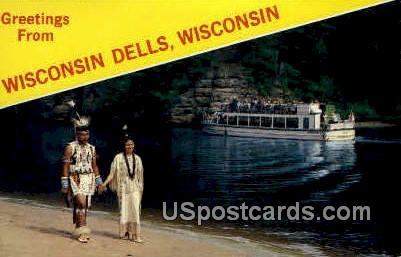 Winnebago Couple - Wisconsin Dells Postcards, Wisconsin WI Postcard