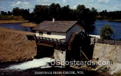 Country Dam - Chetek, Wisconsin WI Postcard