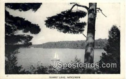 Summit Lake - Wisconsin WI Postcard