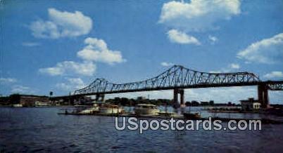 Mississippi River - La Crosse, Wisconsin WI Postcard