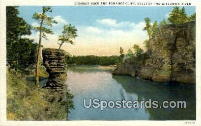 Chimney Rock - Wisconsin Dells Postcards, Wisconsin WI Postcard