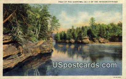 Foot of the Narrows - Wisconsin Dells Postcards, Wisconsin WI Postcard