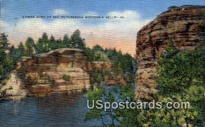 Lower Jaws - Wisconsin Dells Postcards, Wisconsin WI Postcard
